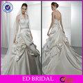 Halter Appliqued cristal Sash Ruffle vestidos de noiva Sexy imagens ( ED-W131 )