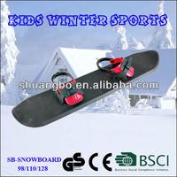 Shuangbo Outdoor Kids Plastic Snowboard 98CM with Bindings