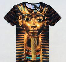 2014 summer hot new model special process cotton blended Pharaoh pattern short-sleeved men Popular 3d t shirt