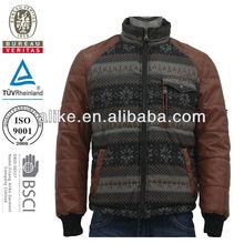 yamaha leather motorcycle running sleeve jacket for men