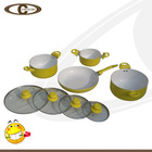 Yellow color cookware combination