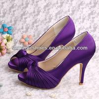 (14 Colors)Channel Shoes Purple Wedding Evening for Women