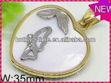 Wholesale charm locket stainless steel pendant jewelry crane pendant control