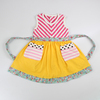 2014 new arrival summer boutique princess girls dresses wholesale girls cotton frock designs