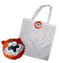 Tiger animal shape foldable shopping bag
