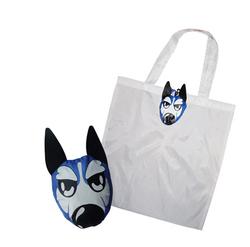 wolfhound animal shape foldable shopping bag