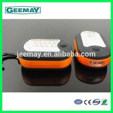 Super bright 24+3 leds portabke led work light magnet recharge with magnetic hook