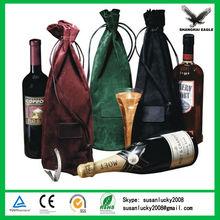 Custom printed velvet wine gift bag (directly from factory)