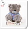 Birthday Soft Stuffed Plush Toy Teddy Bear With T-shirt