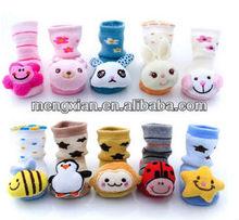 2014 girl boy anti-slip socks cartoon slippers for kid