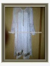 Full Length White Chiffon Dress