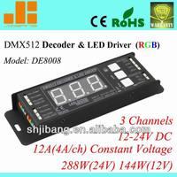 DMX Decoder, LED RGB Driver, digital addressed, DE8008