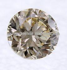 100% Natural white loose diamonds Round Brilliant Cut, Clarity-FL to VS2 Light Brown