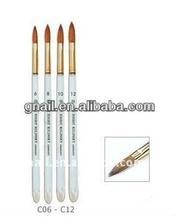 100% Finest Kolinsky Brush Long acrylic handle Round style