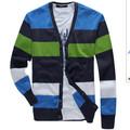 Glo- história atacado original marca v- pescoço despojado botão homem suéter de cashmere