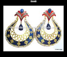 Gold plated meenakari light weight dangler gold plated EARRINGS