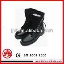 black leather steel toe military rangers/military leather boots/combat leather boots
