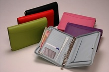 ADARB-0099 cheap quality zipper ring binder personal organiser/6 ring binder portfolio/wholesale a4 size 6 ring binder portfolio