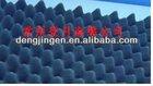 2014 New wave shape high density fireproof acoustic sponge blue acoustic foam