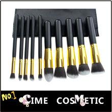 Super Quality 10 pcs Makeup Tools Facial Brushes Set Eyeshadow Brush Kit Synthetic Hair, Soft!!