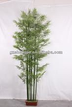 Decorativo de bambú artificiales de la planta, paisajismo de bambú artificiales