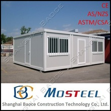 20ft shipping two storey chinese low cost prefabricated house