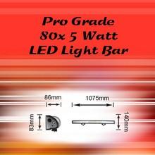 80 x 5 Watt Pro Grade LED Light Bar