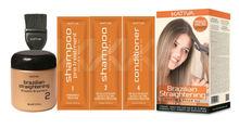KATIVA Brazilian KERATIN Treatment Blow Dry Hair Straightening Kit