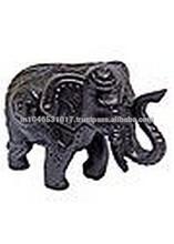 Black Elephant Resin Statue