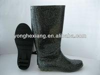 Black PVC wears well Rain boots women