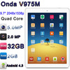 "Onda V975M with 9.7"" Amlogic Cortex A9 2048x1536p Android 4. 2GB RAM 32GB ROM 8200mAh 5.0MP Tablet PC Onda V975M"