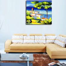 frameless painting of coast landscape