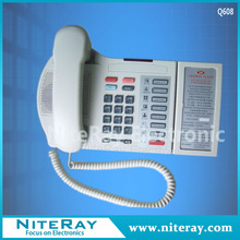 Retro telephone red caller id corded phone