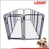 5'x10'x4' metal dog kennel with roof and bowls