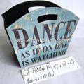 cesta de couro azul fundo dança design palavras