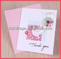 venta caliente de la boda a mano la tarjeta de invitación con sobres
