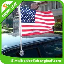2015 Hottest!!! Custom Plastic Window Car Flag Pole