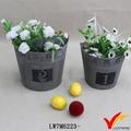 shabby chic chinês mini tine plantador da flor de vaso