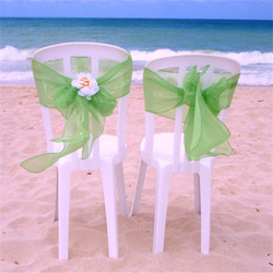 25*37 Density Printed Ruffle organza chair cover chair sashes romantic for wedding and banquet