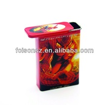Most popular metal cigarette tin box with sliding lid