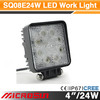 ip68 cree led work light super bright led work light 4x2 light truck