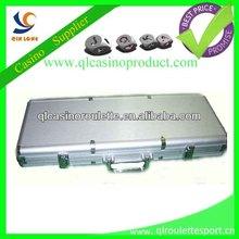 Luxury 500pc aluminium chip box chip set