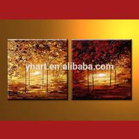 Wholesale Handmade Tree Scenery Painting Image For Decor