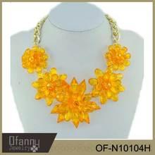 Europe Style Glittering Elegant Crystal Statement Necklace 2014