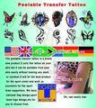 Pabellón temporal etiqueta engomada del tatuaje/calcomanía
