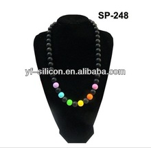 wholesale supply bead teething necklace silicone new arrival