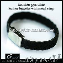 Plain leather cuff bracelets kit for women