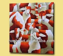 Handmade sheep oil paintings on cavnas