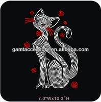 Cat Custom Rhinestone Iron On Transfers Animal Designs