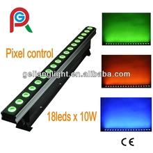 18 x 10 W RGBW 4in1 llevada poder más elevado portable bar con control de píxeles